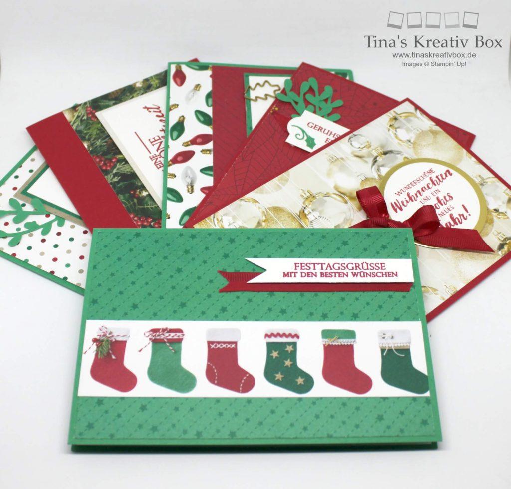 weihnachtskarten bastel set oktober tinaskreativbox. Black Bedroom Furniture Sets. Home Design Ideas