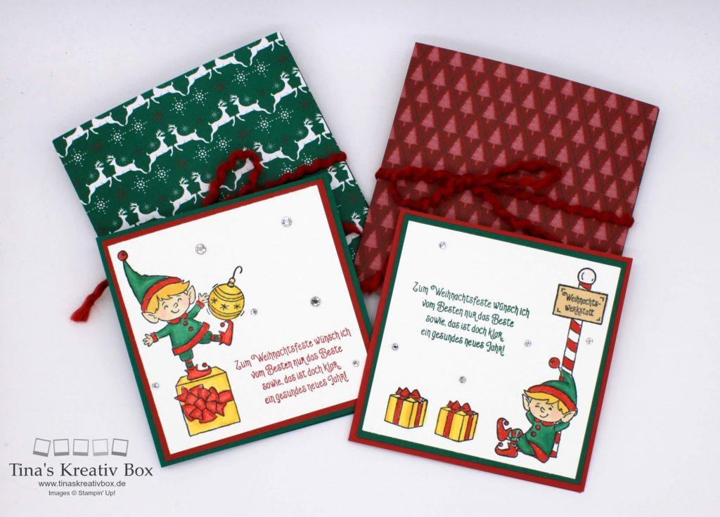 quadratische weihnachtskarten tinaskreativbox. Black Bedroom Furniture Sets. Home Design Ideas