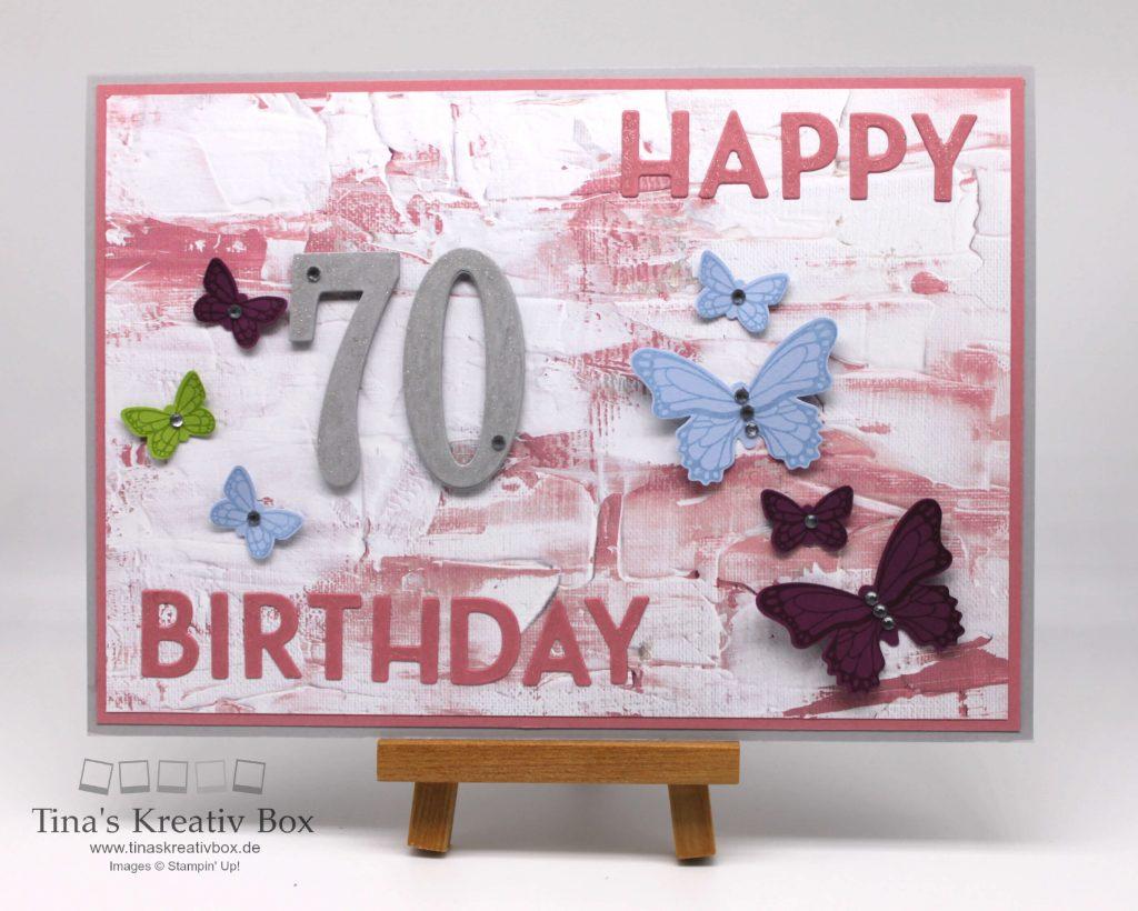 Karte zum 70. Geburtstag - tinaskreativbox